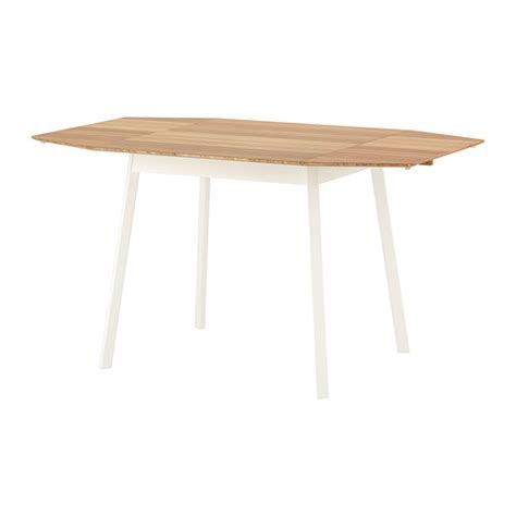 drop leaf dining table ikea ikea ps 2012 drop leaf table bamboo white 74 106 138x80 cm
