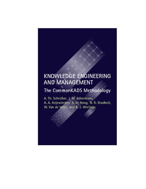 knowledge engineering  management  commonkads methodology