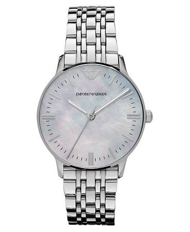 Emporio Armani AR1602 Classic Women watch silver pearl dial Watch