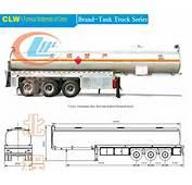 Oil Tanker Truck Dimensions 42ton 3 Axles Fuel