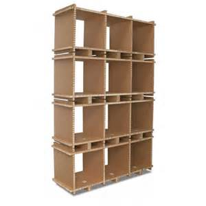 Cardboard Bookshelves Bookcase Eco Friendly Reycled Cardboard 3 Compartments