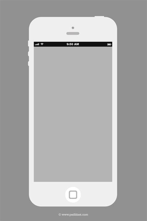 Flat Iphone Wireframe Design Template Psd Psdblast Phone Template Maker