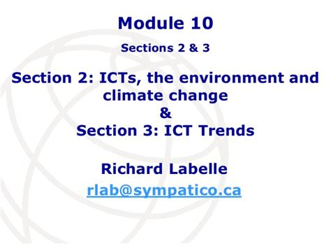 ict section module 10 section 2 icts the environment and climate