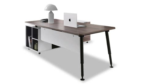 Sales Office Table Contemporary Stylish Office Table With Side Cabinet