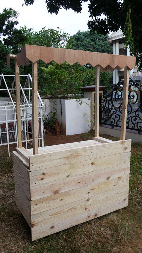 Meja Jualan jual meja kayu jati belanda untuk bazar jualan stand booth