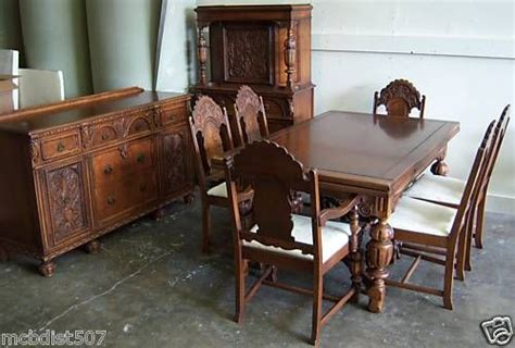 100 8 Pc Dining Room Set Jacobean Style 1920 U0027s | details about beautiful vintage 1930s jacobean style