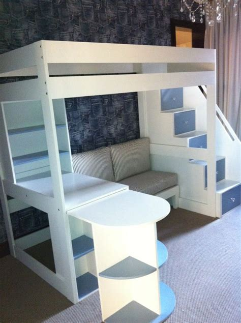 loft bed with sofa 25 best ideas about elevated bed on