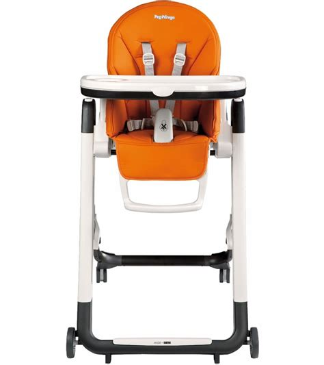 Perego High Chair by Peg Perego Siesta High Chair Arancia Orange