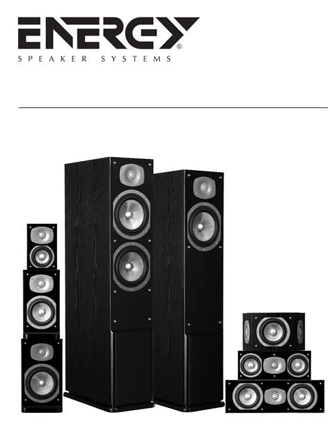Energy Manual energy speaker systems speaker c 300 user guide
