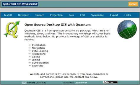 tutorial menggunakan qgis tutorial quantum gis qgis dari harvard university