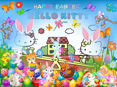 free hello kitty easter wallpaper hello kitty easter wallpaper wallpapersafari