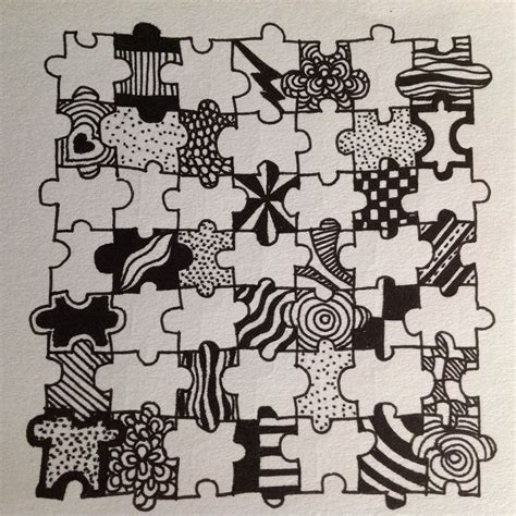 doodle puzzle 103 best ideas about paper crafts zentangle cards on