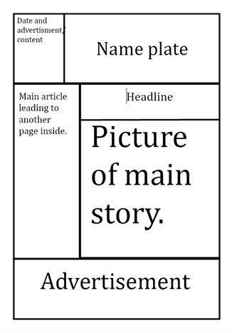 tabloid template tabloid paper design best photos of tabloid newspaper