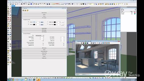 Sketchup Vray Daylight Tutorial | v ray for sketchup daylight set up interior scene