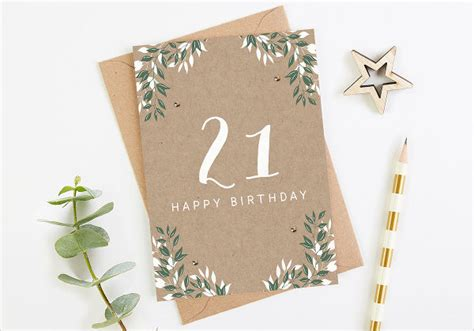 21st Birthday Card Template by 73 Birthday Card Templates Psd Ai Eps Free