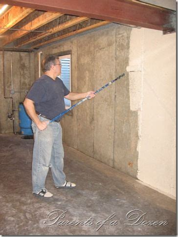 parents of a dozen painting an unfinished basement unfinished basement ideas