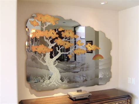 Handmade Decorative Mirrors - decorative etched carved mirrors mirror frames sans