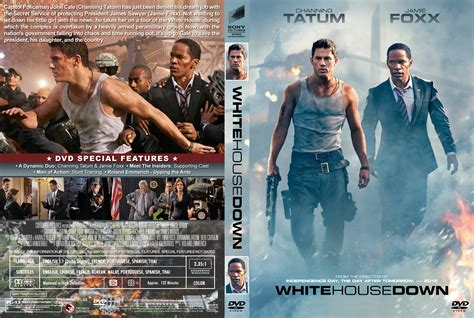 movie white house down white house down dvd cover label 2013 r1 custom