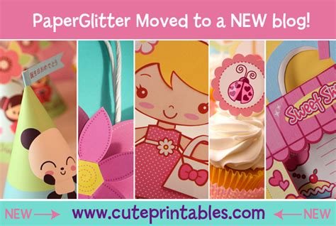 Kawaii Paper Crafts - paper glitter downloads printables paper crafts