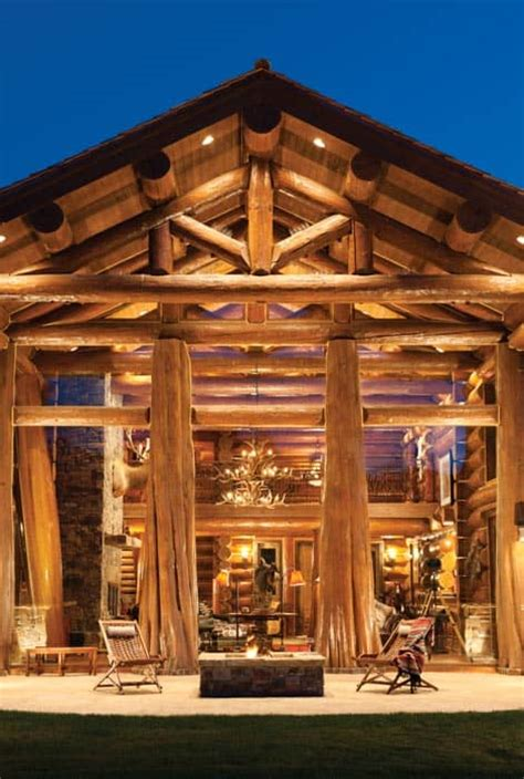 jackson hole contemporary log cabin designshuffle blog jackson hole wy handcrafted log home by precisioncraft