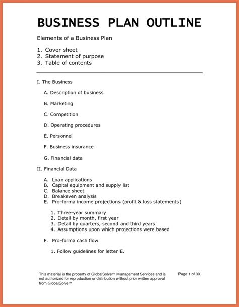template for small business plan simple business plan template word bio exle