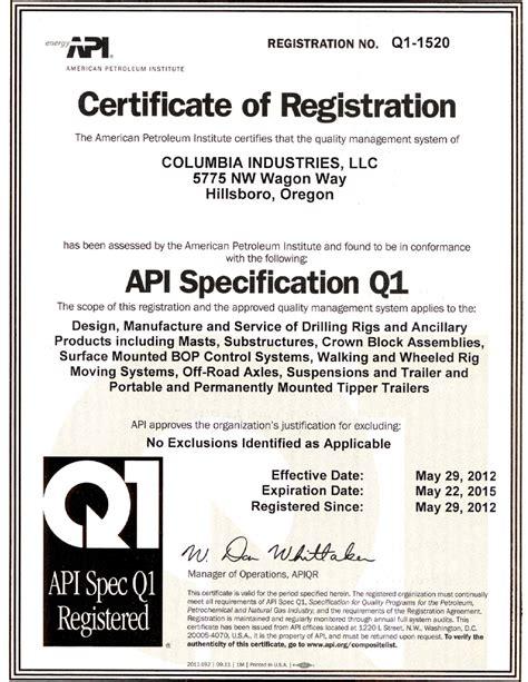what is a q1 api spec q1 definition what is api spec q1 find api