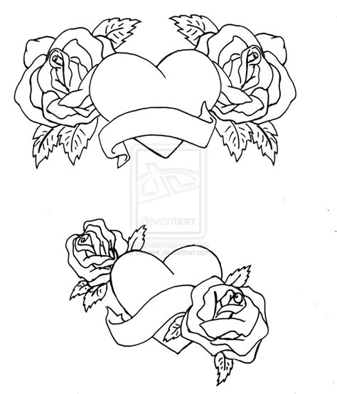 hearts and roses coloring pages coloring pages heart