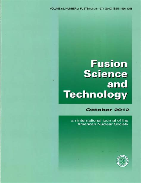 design technology journal october s fusion science technology journal is available