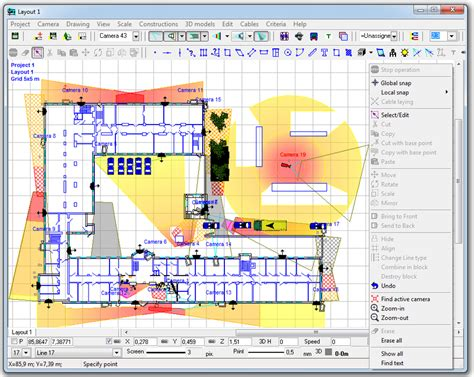 Home Design 2d Plan by Cctv Design Software Videocad Professional
