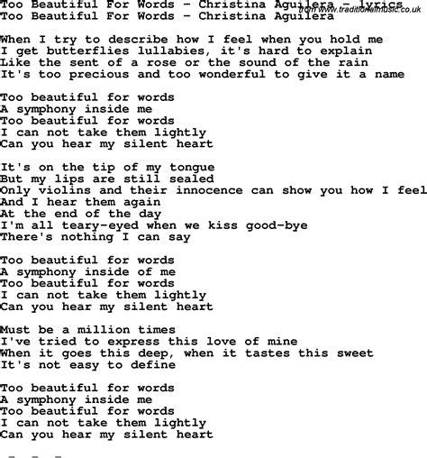 beautiful song beautiful lyrics