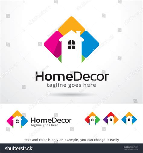 home decor logos home decor logo template design vector stock vector