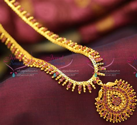 design collection gold metal bead nl3783 design ruby gold plated haram necklace