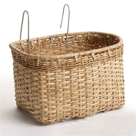 home decor wicker bicycle basket