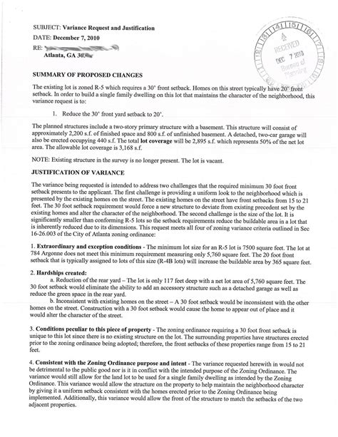 Request Letter For Zoning Certificate Zoning Variance Images