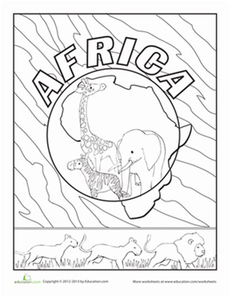 africa printable coloring pages