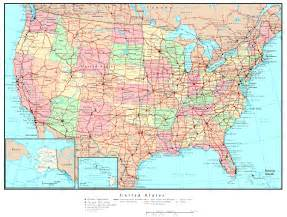 us map with cities states united states political map