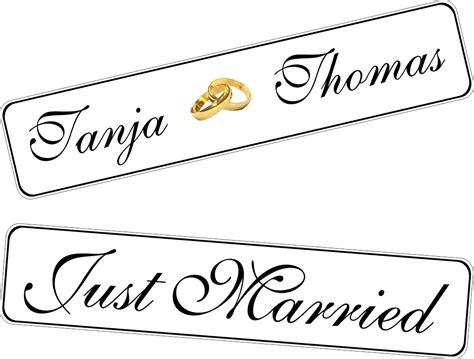 Just Married Autokennzeichen by Kfz Kennzeichen Hochzeit Just Married Ringe In Gold Neu