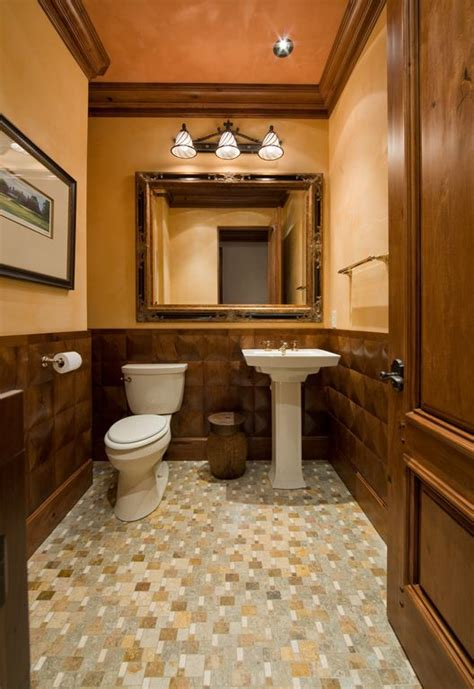 craftsman bathrooms craftsman powder room with ceramic tile floors by keesee and associates inc zillow