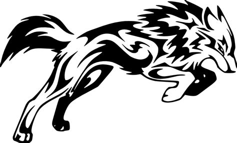 tribal wolf coloring page wolf tribal png