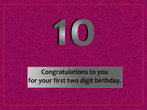 10th Birthday Quotes For Happy 10th Birthday Quotes Quotesgram
