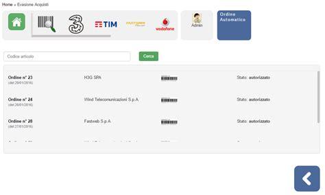 fornitori telefonia mobile ordini a fornitore