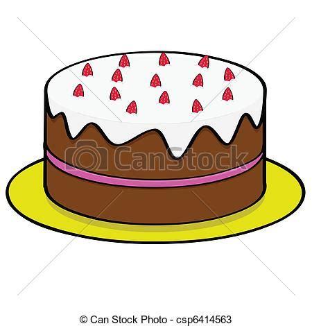 clipart torta torta fragola cioccolato guarnizione illustrazione