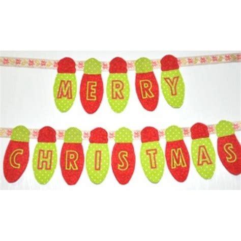 christmas lights in the hoop banner