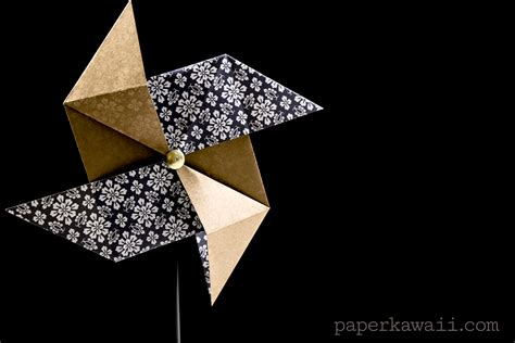 Origami Pinwheels - traditional origami pinwheel tutorial paper kawaii