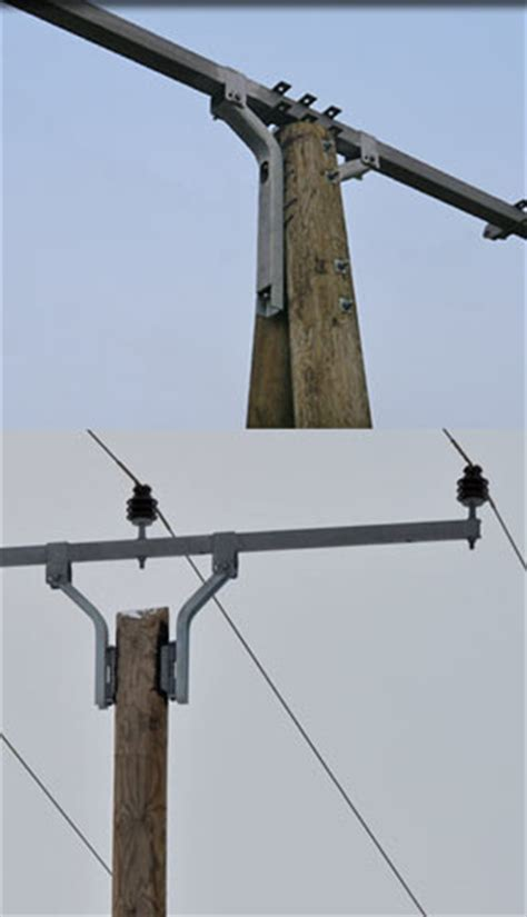 L Post Cross Arm by Cross Arm Systems For Medium Voltage Induo 174 Utility Pole
