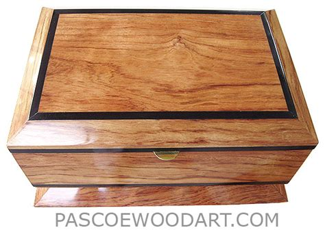 handcrafted wood keepsake box bleached bubinga