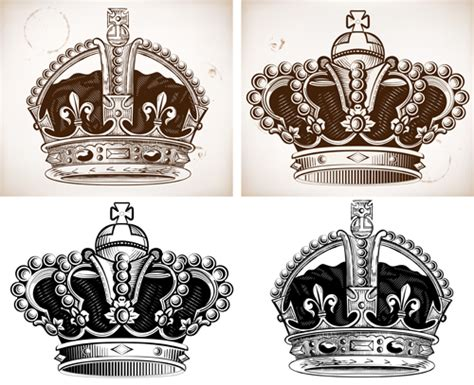 king crown brushes for photoshop 187 designtube creative royal crown vintage design vectors 01 vector other free