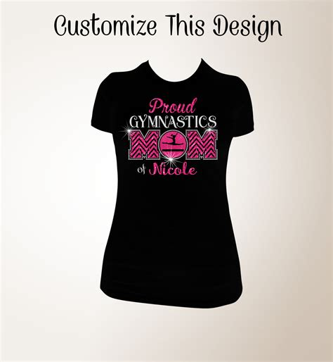 Request Design Your Tshirt proud gymnastics t shirt gymnastics bling shirt