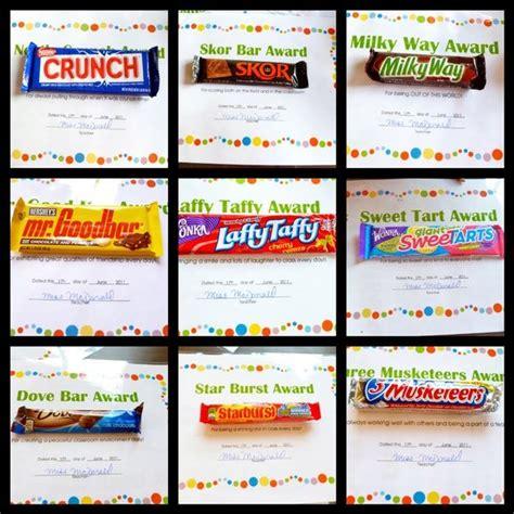 candy bar awards my fifth grade math class would love
