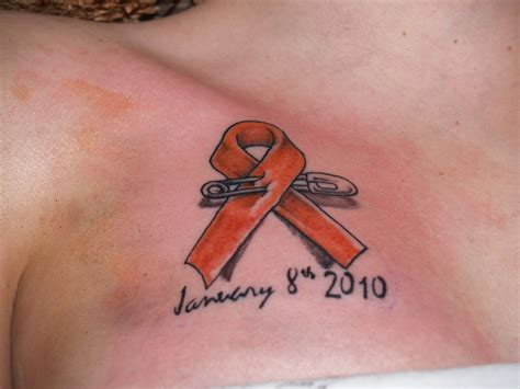 leukemia ribbon tattoo leukemia tattoos and marking gaia s battle with